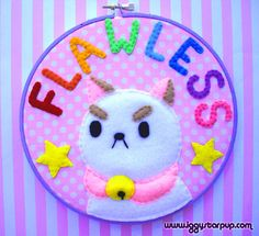 Bee and Puppycat--Puppycat Embroidery (SOLD)