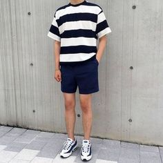 Trendy Ideas For Fashion Trends 2018 Menswear Korean Outfits, Short Outfits, Trendy Outfits, Boy Outfits, Fashion Outfits, Look Fashion, Trendy Fashion, Mens Fashion, Fashion Trends