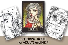COLORING / colouring book for adults and children  by tanyabond