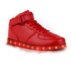 Leuchtende Schuhe Halbhohe Rot Damen