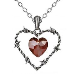 """Love Imprisoned"" Necklace by Alchemy of England #InkedShop #necklace #heart #jewelry"