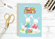 Rabbit card love card bunny card rabbit on bicycle card just for unique easter card alternative easter gift cute easter card cute bunny card none chocolate easter present 295 gbp by paperspaceboutique negle Choice Image