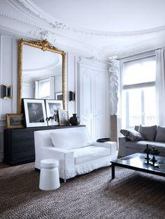 Parisian Interior by Gilles et Boissier Modern French Interiors, Contemporary Interior Design, Decor Interior Design, Interior Decorating, Design Interiors, Decorating Ideas, Modern Contemporary, French Interior Design, Gold Interior