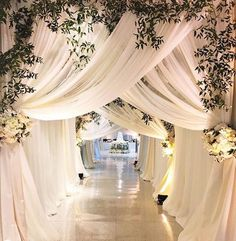 luxury wedding entrance The wedding reception entrance is something that all anxiously await. It's up to you to make your wedding reception entrance special. Wedding Reception Entrance, Wedding Stage Decorations, Wedding Ceremony, Wedding Venues, Wedding Entrance Decoration, Wedding Draping, Indian Reception, Decor Wedding, Marriage Hall Decoration