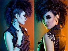 Girl with the dragon tattoo inspired photograph. i love me some leather and fauxhawks.