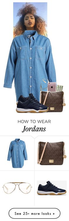 """""""◾◾◾"""" by xtiairax on Polyvore featuring Chocoolate, CÉLINE, Michael Kors and NIKE"""
