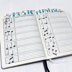 Resultado de imagen para bullet journal music