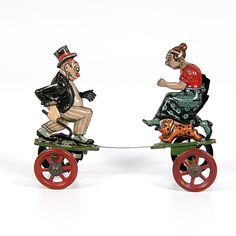 Maggy & Jiggs tin toy, 1920s
