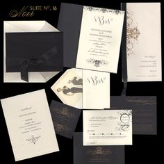 checkerboard noir invitation suite - Checkerboard Wedding Invitations