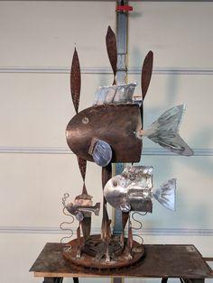 Welding Crafts, Welding Art Projects, Diy Art Projects, Metal Crafts, Project Ideas, Junk Metal Art, Metal Yard Art, Scrap Metal Art, Junk Art