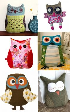 NEW OBSESSION, OWL PILLOWS : my kitsch world