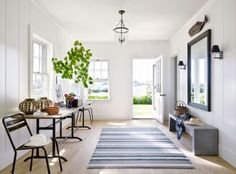 Beach Entrance Hall by Victoria Hagen and Botticelli & Pohl Architects in Nantucket, MA
