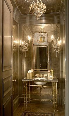 11 Best Jewel Box Powder Rooms Images