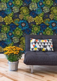 Add some wallpaper florals to your living room using the Sture design:  https://au.miltonandking.com/sture