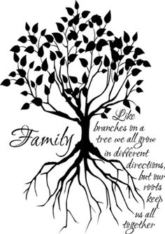 Family Tree Large   Wall Decals