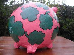 Glücksschwein- Glück - grosses Sparschwein - Geldgeschenk - Briefbox - Unikat -