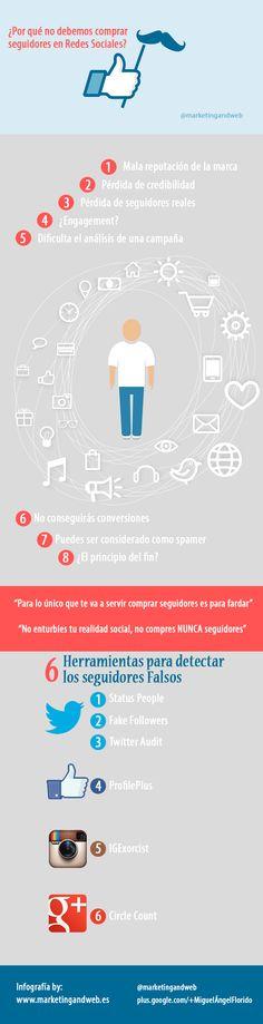 Por qué no comprar seguidores en Redes Sociales #RedesSociales #Infografía #SocialMedia