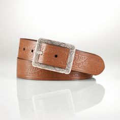 Tooled Leather Belt - Lauren Belts - RalphLauren.com