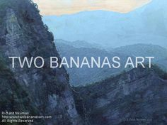 #124 DAWN ON ALI MOUNTAIN Limited edition of ten 18x24 prints. $185.00 Painting by Two Bananas Art artist Richard Neuman. Inspired by a photo he took at Ali Mountain, Taiwan. Each giclee print is digitally signed, dated, numbered, with a certificate of authenticity. Your gallery wrapped, stretched canvas print is ready to hang. SHIPPED FREE! #art #architecture #colorful #semi #abstract #landscape #print