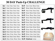 30-Day Push-Up Challenge - Fitness Chest Core Sixpack Workout Ab