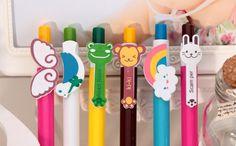 The cartoon rainbow pen presses the ballpoint pen Games Box, Office Stationery, Ballpoint Pen, Stationary, Rainbow, Cartoon, Rain Bow, Rainbows, Cartoons