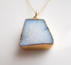 Bright Blue Druzy Necklace  www.etsy.com/shop/443Jewelry