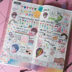 2017/07/10 17:18:53 Journal Quotes, Journal Pages, Bullet Journal Font, Journal Aesthetic, Dream Book, Bullet Journal Inspiration, Happy Planner, Kpop, Scrapbook