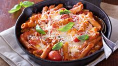 A healthier comfort food recipe from Cardiologist and Nutritionist Dr. Packed with protein, featuring gluten-free organic red lentil pasta. Red Lentil Pasta Recipes, Yummy Pasta Recipes, Chicken Pasta Recipes, Yummy Food, Penne, Mozzarella, Chicken Lentil, Mediterranean Chicken, Healthy Comfort Food