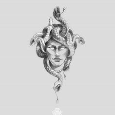 [New] The 10 Best Drawing Ideas Today (with Pictures) - Custom design. Medusa Drawing, Snake Drawing, Snake Art, Tattoo Sketches, Drawing Sketches, Tattoo Drawings, Drawing Ideas, Beautiful Drawings, Cool Drawings