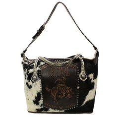 e230ce34c244 Raviani American Original Western Tote Brindle Hair On HideLeather Handbag  Purse