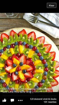 "Pizza Fruit ""Pizza"" made with Sugar Cookie Crust- a yummy and easy summer dessert!Fruit ""Pizza"" made with Sugar Cookie Crust- a yummy and easy summer dessert! Fruit Recipes, Pizza Recipes, Dessert Recipes, Cooking Recipes, Fruit Dessert, Dessert Pizza, Cooking Tips, Easy Recipes, Catering Recipes"