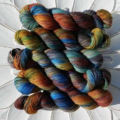Hand Dyed/Hand Painted Yarn - JANIS on Superwash 75 Merino/25 Nylon Sock