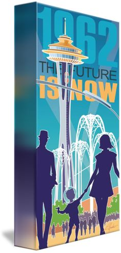 """""""The+Future+is+Now++daytime""""+by+Larry+Hunter,+Penticton+//+The+Seattle+World's+Fair+epitomized+the+optimism+of+the+Mid-Century+era.+As+a+small+boy+who+attended+the+fair+I+can+attest+to+that!+//+Imagekind.com+--+Buy+stunning+fine+art+prints,+framed+prints+and+canvas+prints+directly+from+independent+working+artists+and+photographers."""