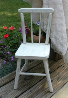 small wooden chair shabby chic decor decorative wooden by brixiana, $28.00