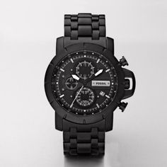 A called-out chronograph, silver applied indexes, and matte black metal, make this watch perfect for both casual and dressy occasions. Case Size: 45mmCase Thickness: 13mmWater Resistant: 5ATMWarranty: 11-year limited Origin: ImportedView Size Guide