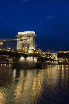 The Chain Bridge in Budapest by Bluepixel on Creative Market