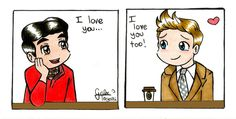 Klaine! I love this moment and this fanart!