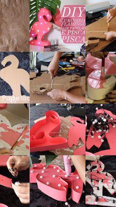 Luminária feita com pisca pisca, papelão, cola quente e papel triplex. Simples, fácil de fazer e linda! Vem ver o passo a passo!