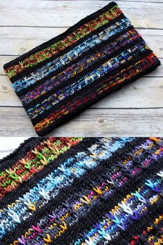 Free until July 31, 2018 Knitting Pattern for Cathedral Glass Cowl - Grab your mini skeins or sock yarn scraps to knit this cowl with slip stitches that prevent color pooling. Designed by Brew City Yarns.