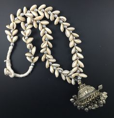 Afghan Long Necklace with Shells