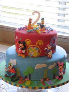 Mickey Mouse Clubhouse Cake #5 by sugarcrushmiami, via Flickr