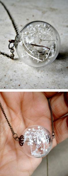 Baby's Breath Necklace I want ! Pleaseee