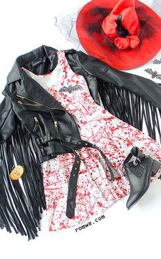Black Fringe Sleeve Zipper Up PU Jacket With Belt
