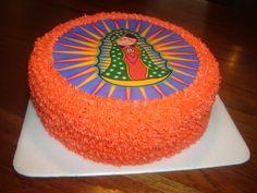 Una torta de Virgen de Guadalupe