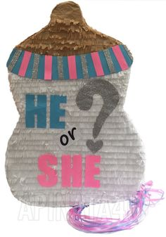 Gender Reveal Baby Bottle Traditional or Pull by Theperfectpinata