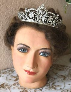Vintage Wax Mannequin Head Bust by GEMS LONDON.