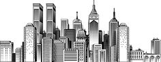 skyline york sketch nyc drawing google drawings silhouette easy outline skylines illustration manhattan line building perspective painting buildings md doodle