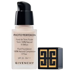 What it is:A creamy foundation with SPF protection.What it does:Givenchy Photo'Perfexion Fluid Foundation SPF 20 PA works like a concealer to correct imperfections, smooth the skin's texture, and even out the complexion. With the expertise and spe Foundation With Spf, No Foundation Makeup, Flawless Foundation, Flawless Skin, Givenchy, Fair Complexion, Fair Skin, It Goes On, Natural Glow