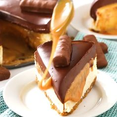 #Chocolate Caramel Twix #Cheesecake #DESSERT