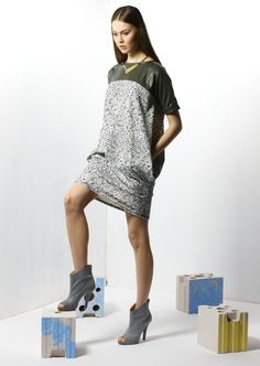 by Magda Hasiak: Tektonika #magdahasiak #tektonika #fashion #women'sfashion #dress #elegantwoman #greydress